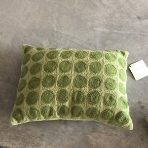 Pottery barn dot pillow in green